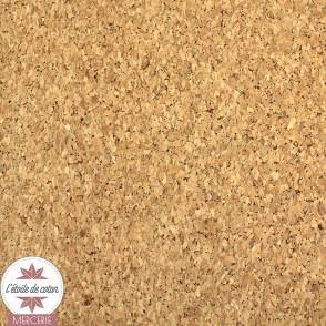 Coupon 50 x 70 cm - tissu liège grain fin