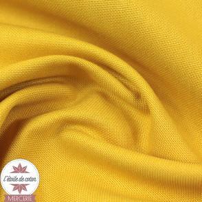 Tissu toile de coton - moutarde