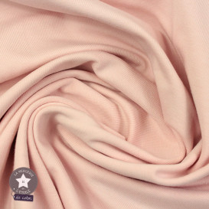 Jersey uni - rose poudré (Oeko-Tex)