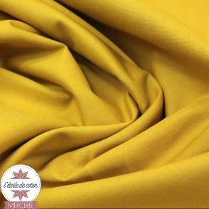 Popeline de coton - moutarde (Oeko-Tex)