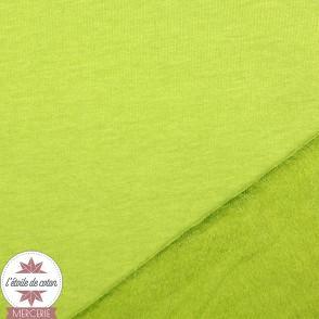 Sweat gratté uni - vert olive clair