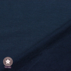 Sweat gratté uni - bleu marine