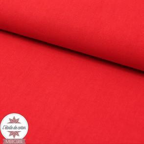 Tissu coton rouge - Oeko-Tex