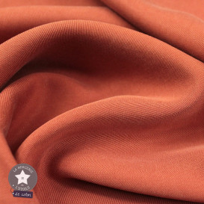 Tissu tencel - brique