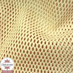 Tissu filet coton biologique - écru