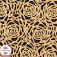 Coupon 50 x 68 cm - tissu liège véritable fleurs