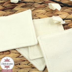Tissu tetra (langes) coton bio - écru