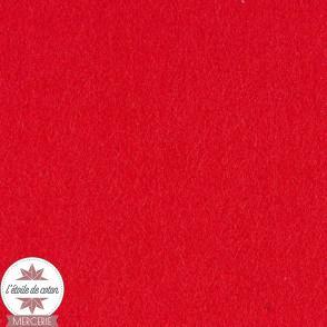 Feutrine rouge - 45 x 50 cm