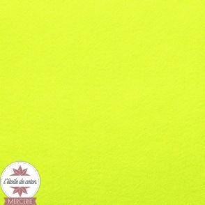 Feutrine jaune fluo - 45 x 50 cm