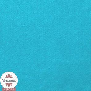 Coupon feutrine bleu turquoise - 45 x 50 cm