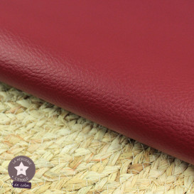 Coupon 50 x 70 cm - simili cuir fin rouge bordeaux