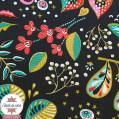 Tissu coton enduit Ancolie - marine