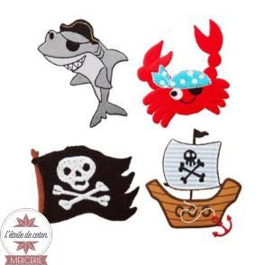 Motif thermocollant drapeau pirate