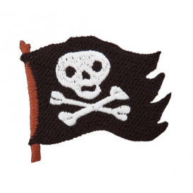 Motif thermocollant requin pirate