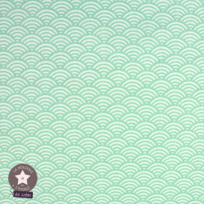 Tissu coton Sushis - vert menthe