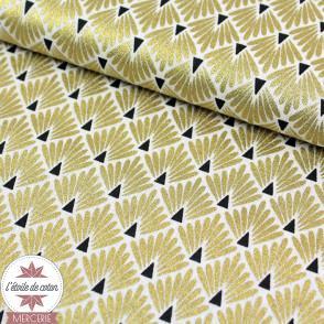 Tissu coton Ecailles - or