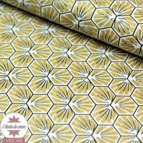 Tissu coton Riad - or