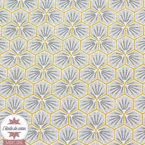 Tissu coton Riad - argent