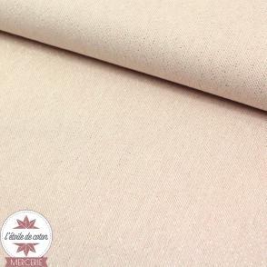 Tissu toile polycoton Cubex - lurex nude