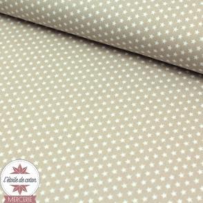 Mini étoiles beige - Oeko-Tex
