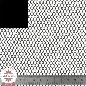 Tissu filet noir (mesh)