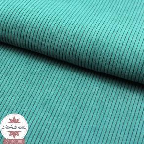 Tissu velours côtelé ameublement - canard