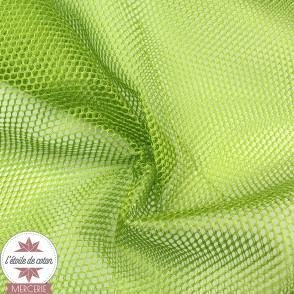 Tissu filet vert pomme (mesh)