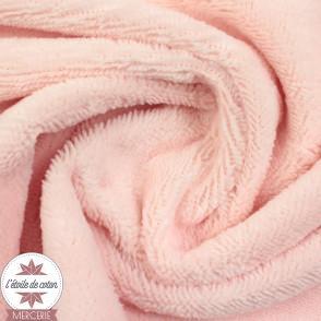Tissu micro éponge de bambou rose blush (Oeko-Tex)