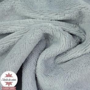 Tissu micro éponge de bambou gris (Oeko-Tex)