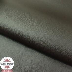 Coupon 50 x 70 cm - simili cuir fin ébène