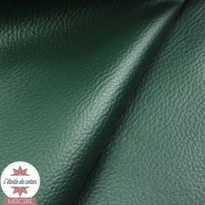 Coupon 50 x 70 cm - simili cuir fin vert sapin