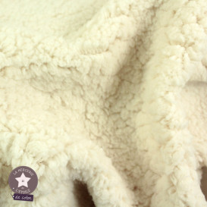 Tissu fourrure mouton - écru