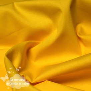Popeline de coton - jaune