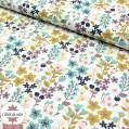 Tissu coton millefleurs ocre/blush/céladon - Oeko-Tex