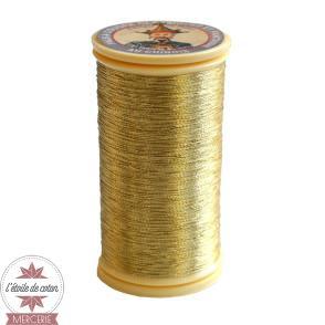 Fil à coudre métallisé - or