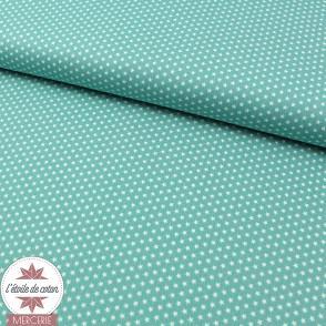 Mini étoiles vert amande/sauge - Oeko-Tex