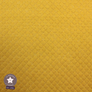 Jersey matelassé mini losange - marsala