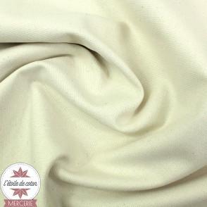 Tissu toile de coton - noir