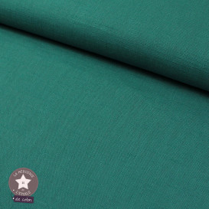 Tissu lin lavé vert d'eau