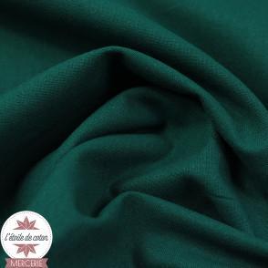 Tissu coton uni vert paon - Oeko-Tex