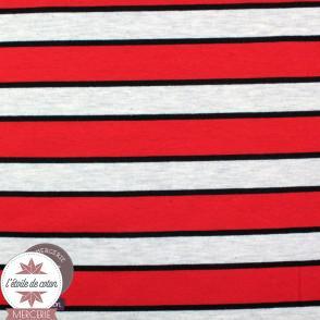 Sweat léger marinière - blanc/rouge/marine (Oeko-Tex)