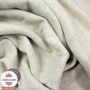 Tissu lin viscose - naturel