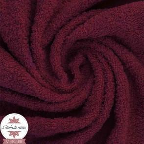 Tissu éponge indémaillable bleu gris