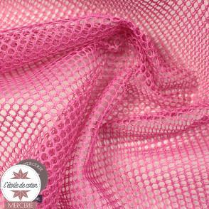 Tissu filet rouge (mesh)