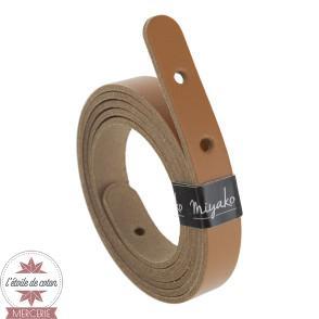 Anse de sac bandoulière cuir pré-percée - marron