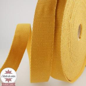 Sangle lurex 30 mm - lin/or