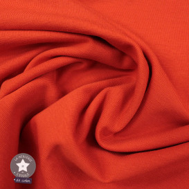 Jersey uni bio - orange (Oeko-Tex)