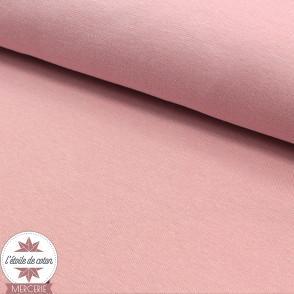 Bord-côte rose - Oeko-Tex