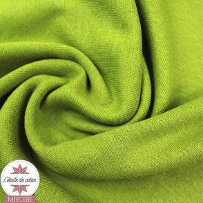 Bord-côte vert olive - Oeko-Tex
