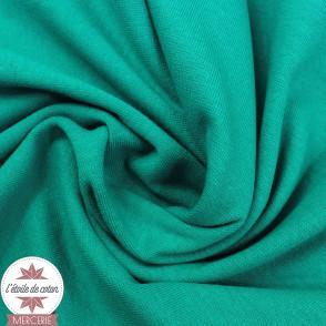 Bord-côte vert émeraude - Oeko-Tex